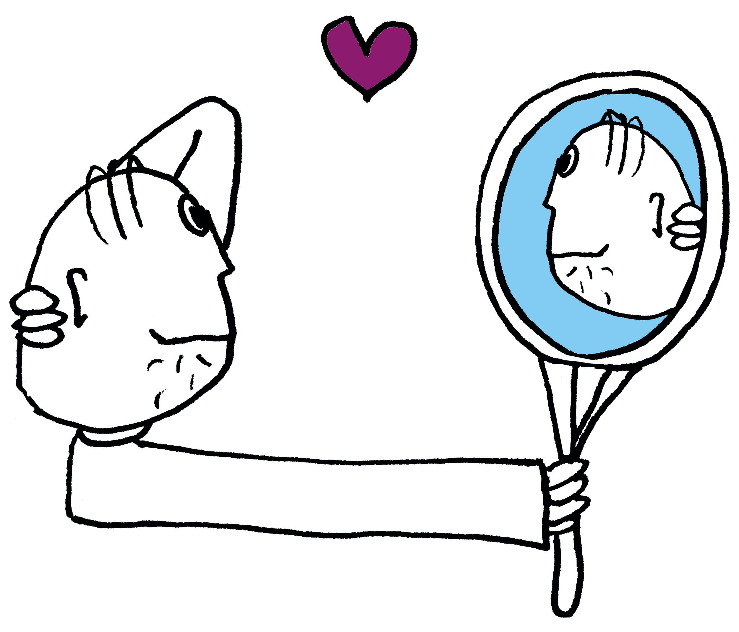 Remonstranten Geloof begint bij jou_tekening mannetje in spiegel