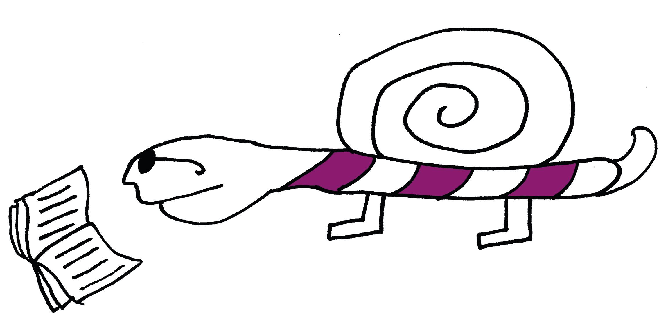 Remonstranten Geloof begint bij jou_tekening lezende slak