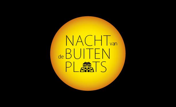 Logo 'Nacht van de Buitenplaats': een volle maan met daarin de typografie.