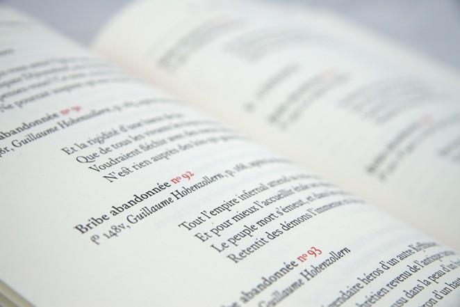 Binnenwerk van het boek 'Soupirs', ontworpen door Wigger Bierma. Typografische assistentie door Godfried Vonk, Ontwerpkantoor