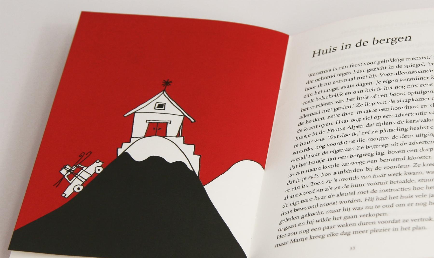 Kerstverhaal rode boekje huis op berg