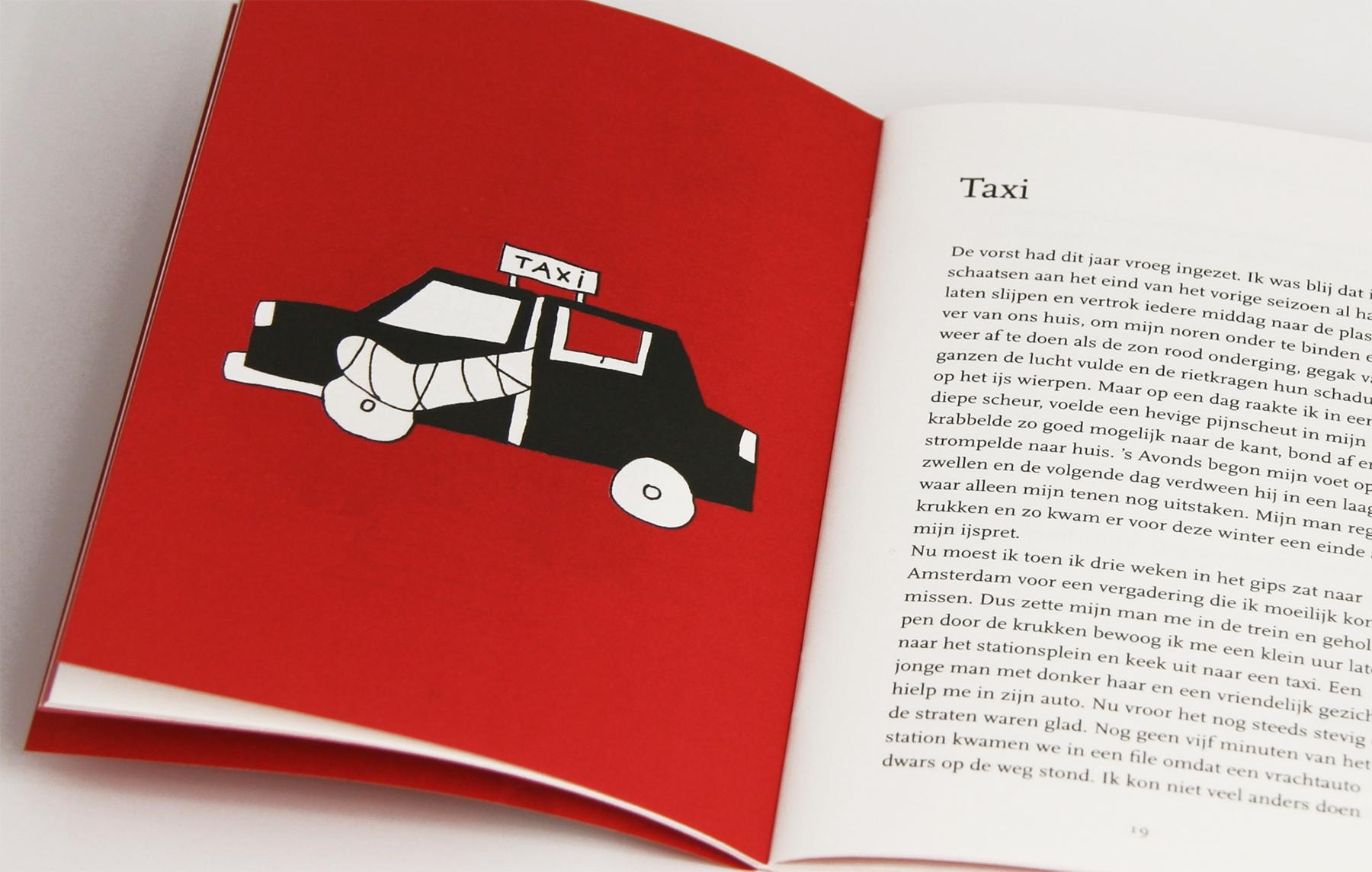 Kerstverhaal rode boekje taxi gebroken been