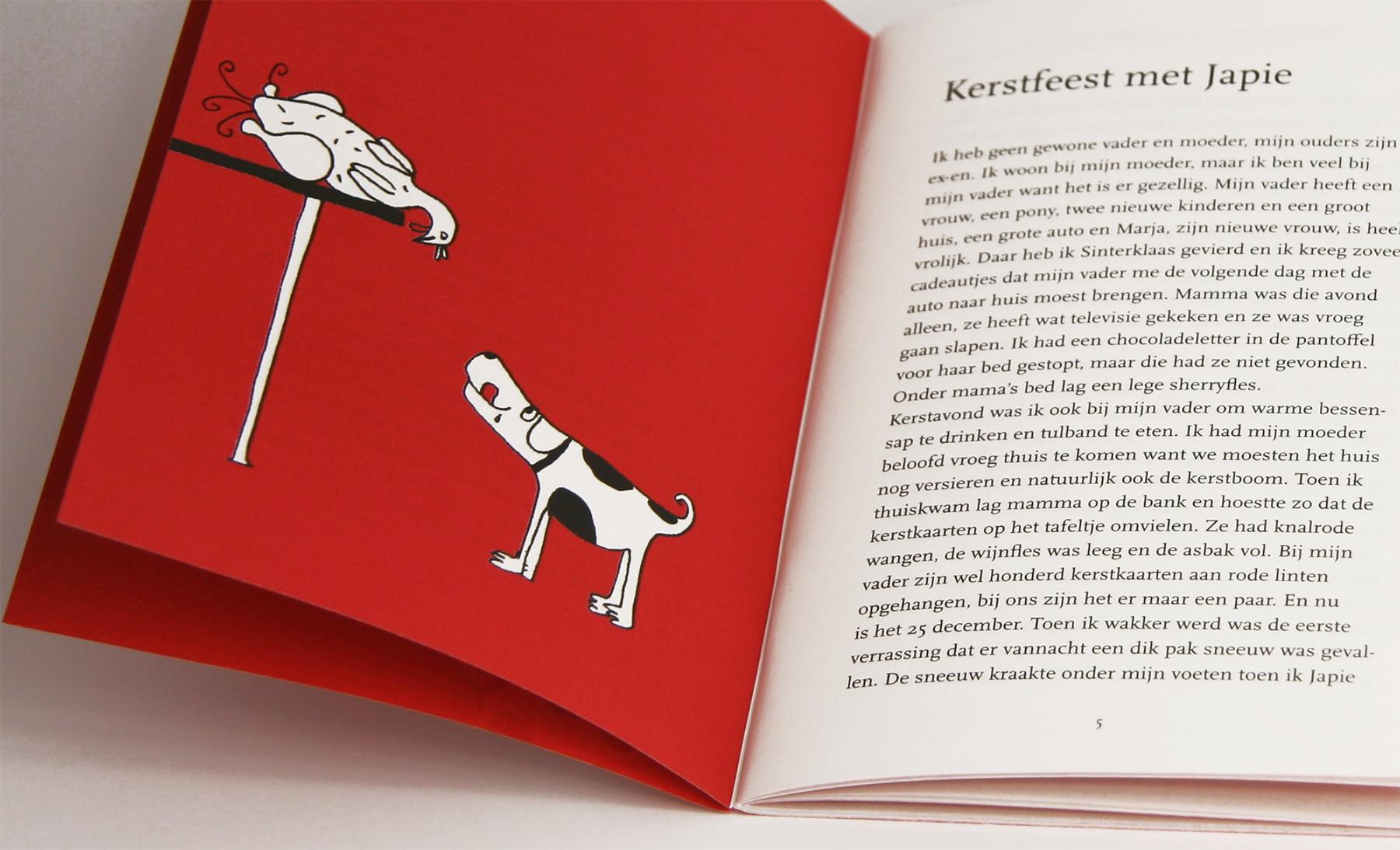 Kerstverhaal rode boekje hondje en kip