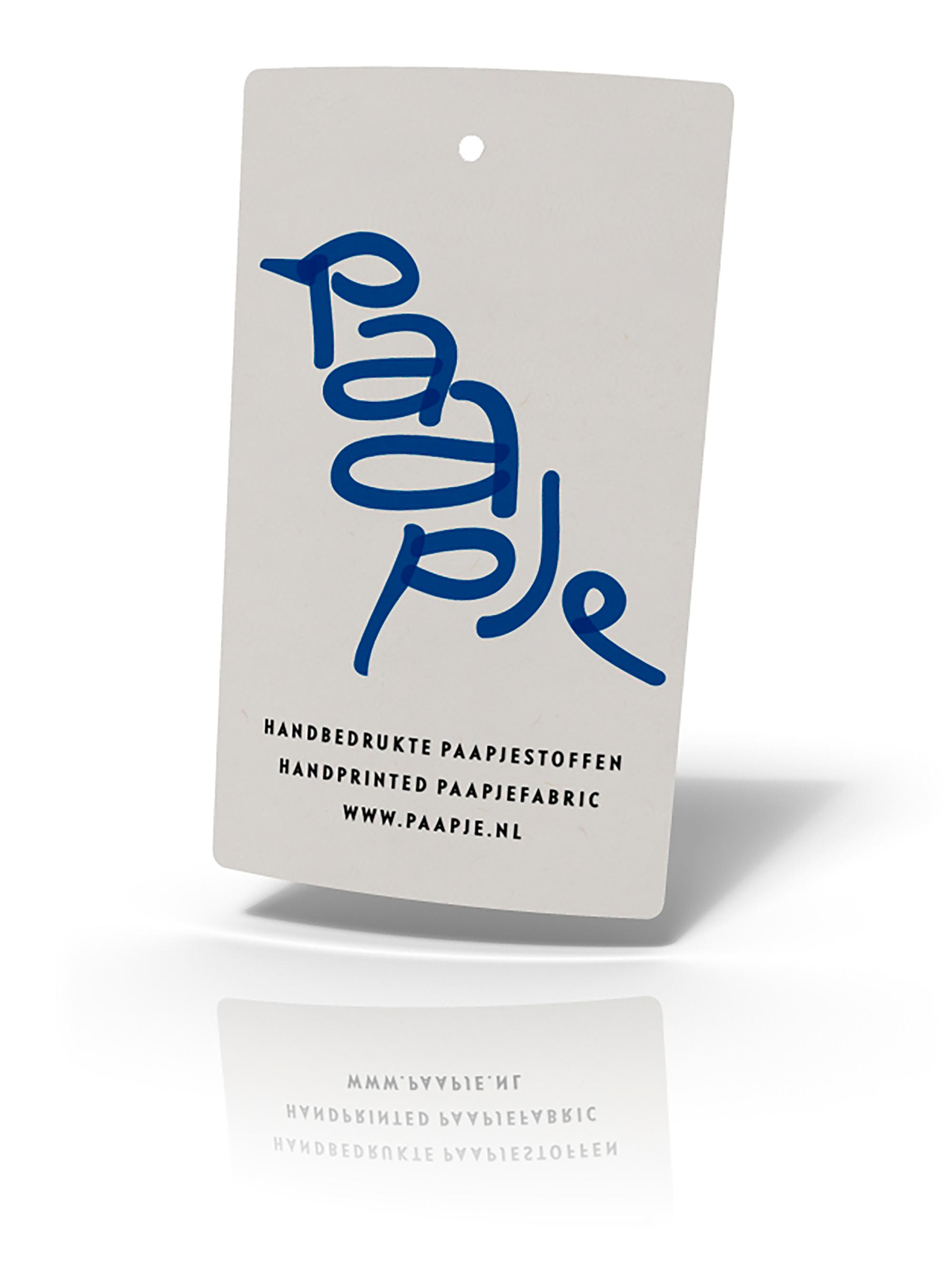 Paapje logo op label