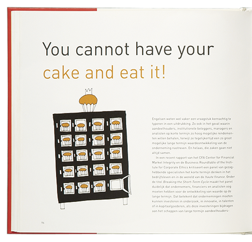 'Cooking the Books' illustratie 'You cannot have your cake and eat it!'