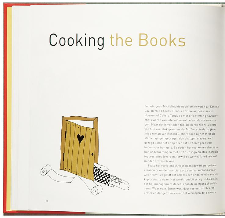 'Cooking the Books' illustratie 'Toilet'