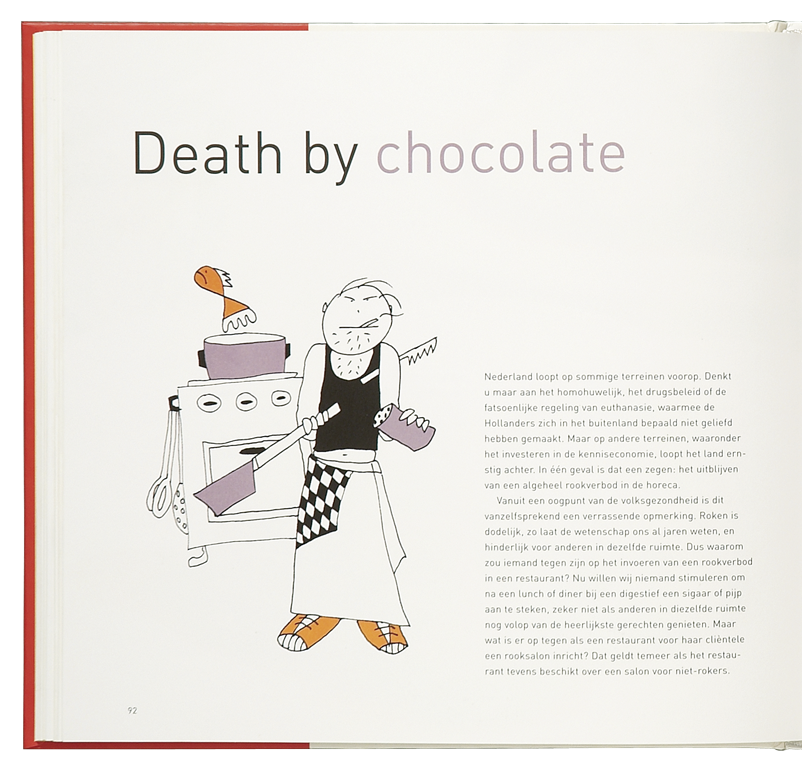 'Cooking the Books' illustratie 'Death by chocolate'