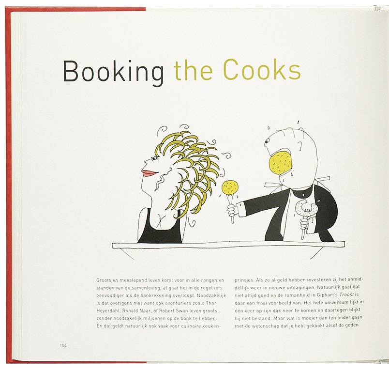 'Cooking the Books' illustratie 'Booking the Cooks'