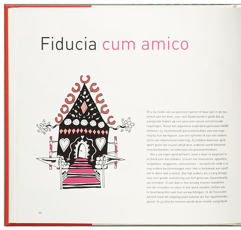 'Cooking the Books' illustratie 'Fiducia cum amigo'