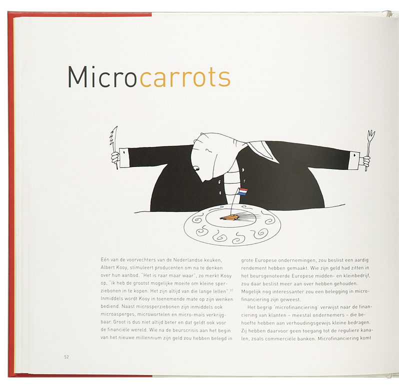 'Cooking the Books' illustratie 'Micro Carrots'