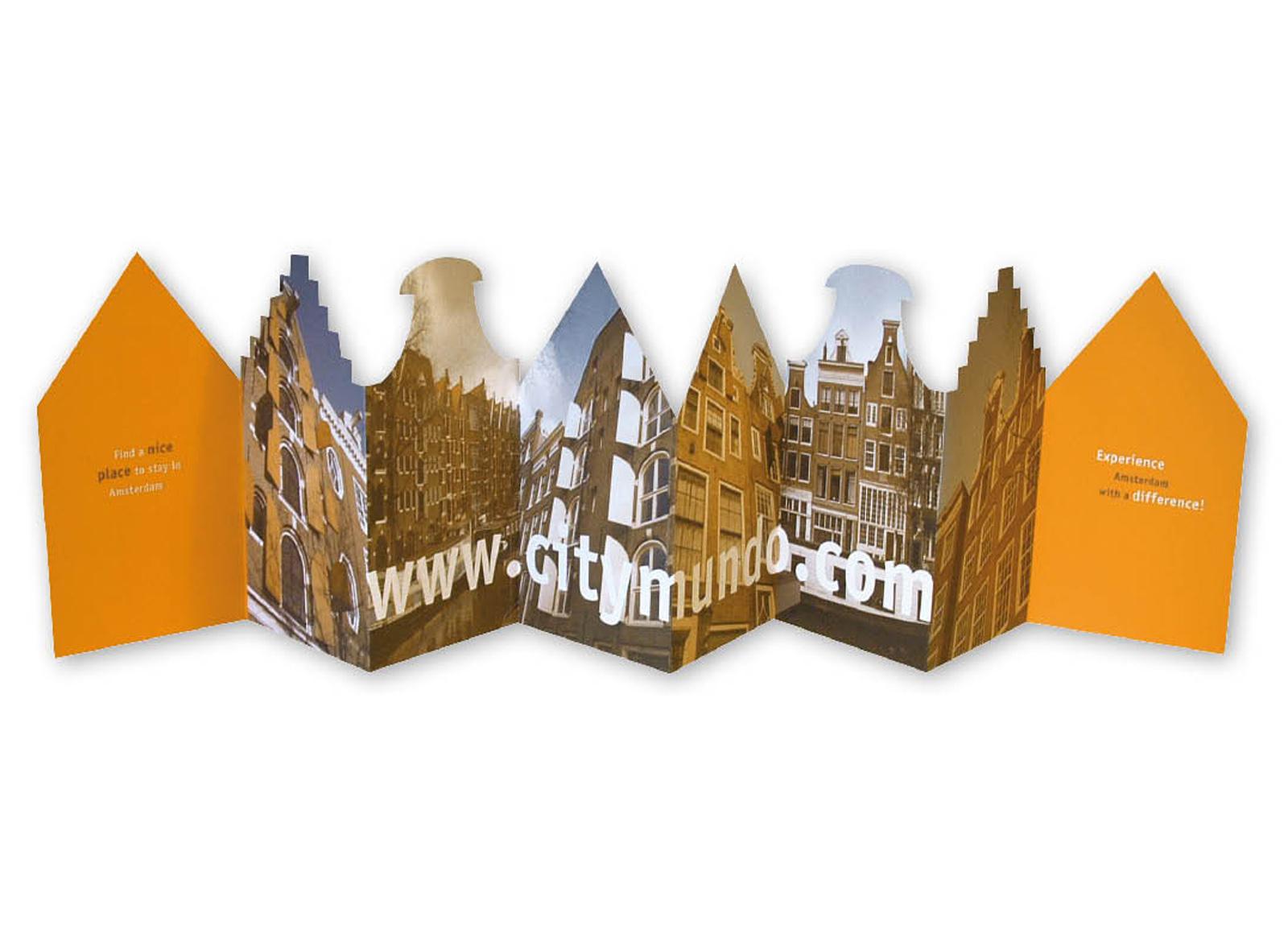 CityMundo Folder van Amsterdamse geveltjes