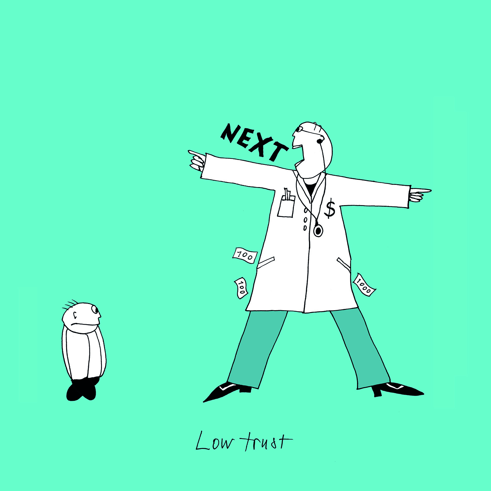 Illustratie: 'Low Trust'