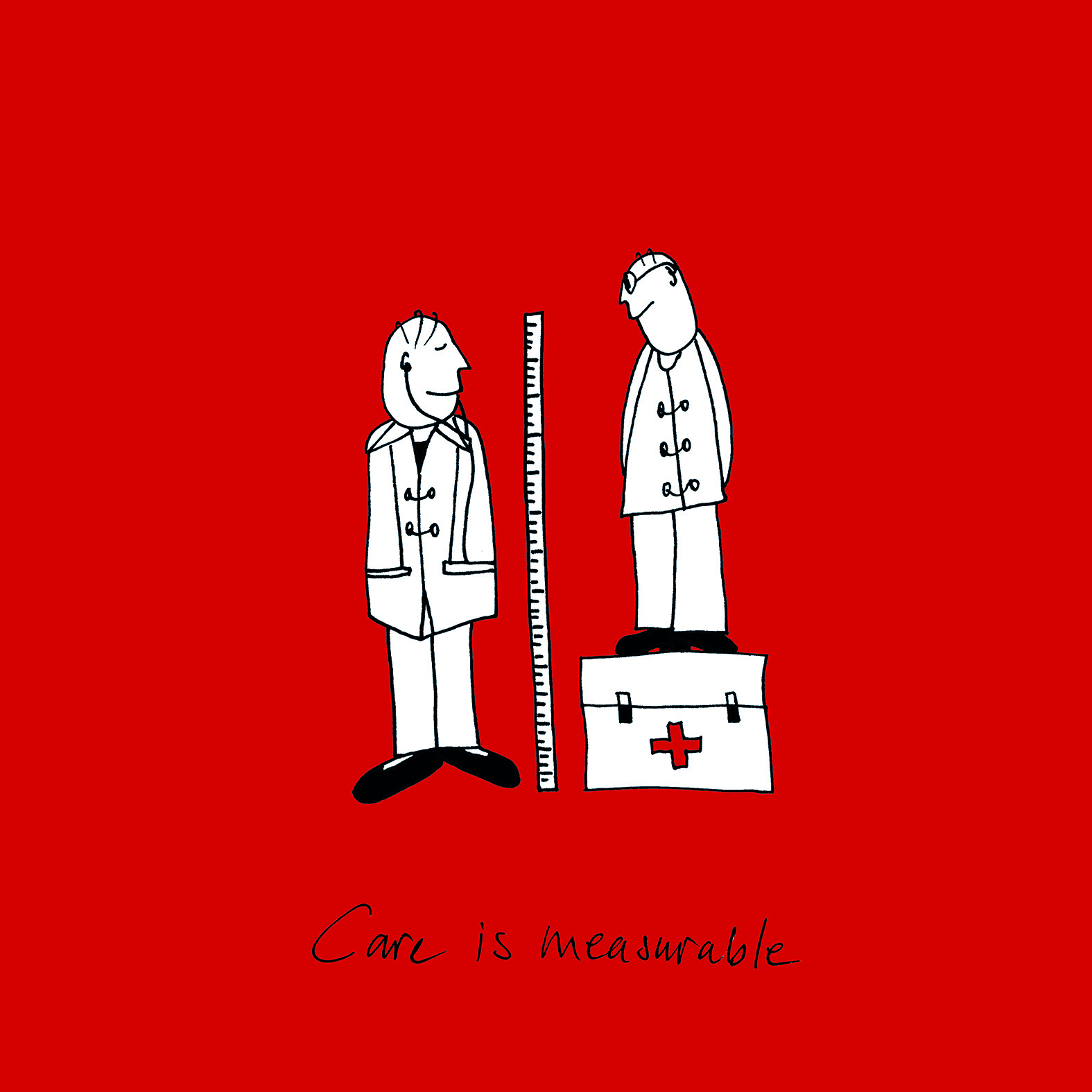 Illustratie: 'Care is measurable'