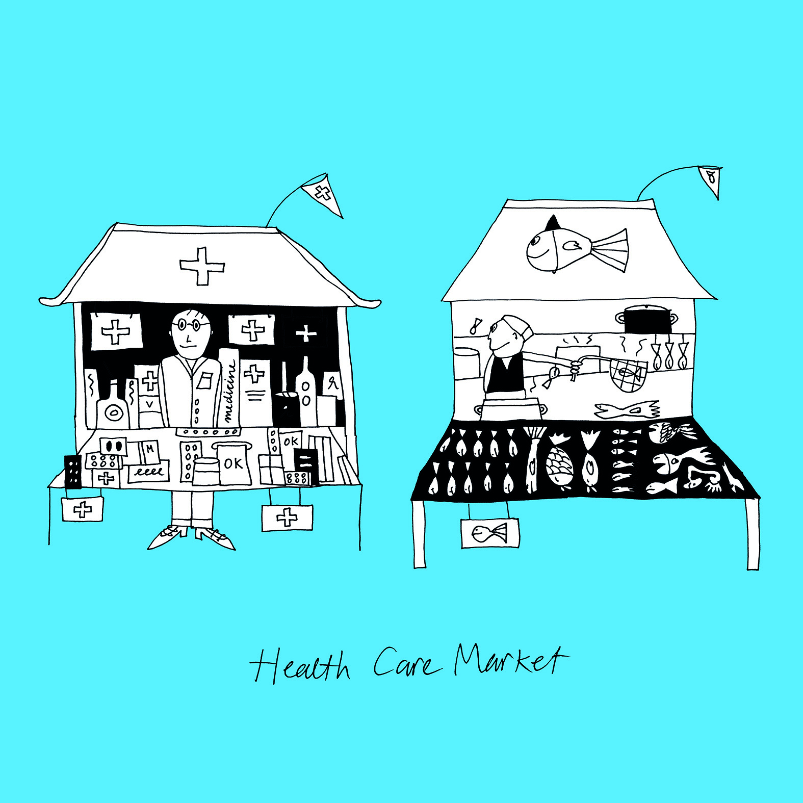 Illustratie: 'Health Care Market'