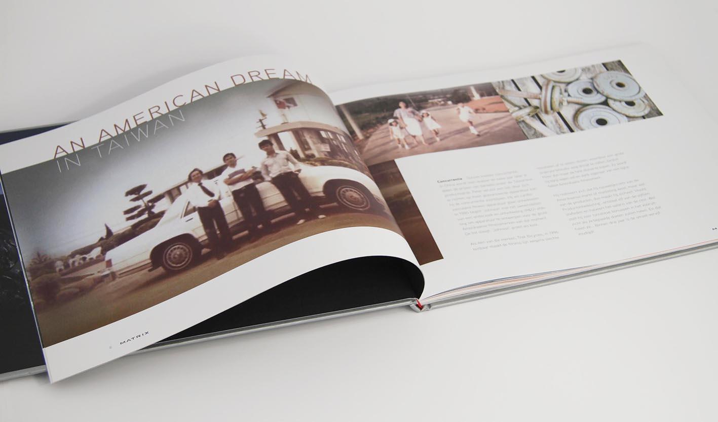 Matrix Corporate brochure hoofdstuk geschiedenis