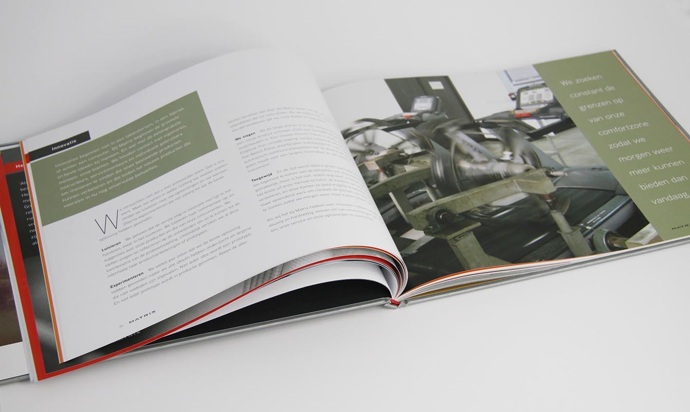 Matrix Corporate brochure hoofdstuk fabricage