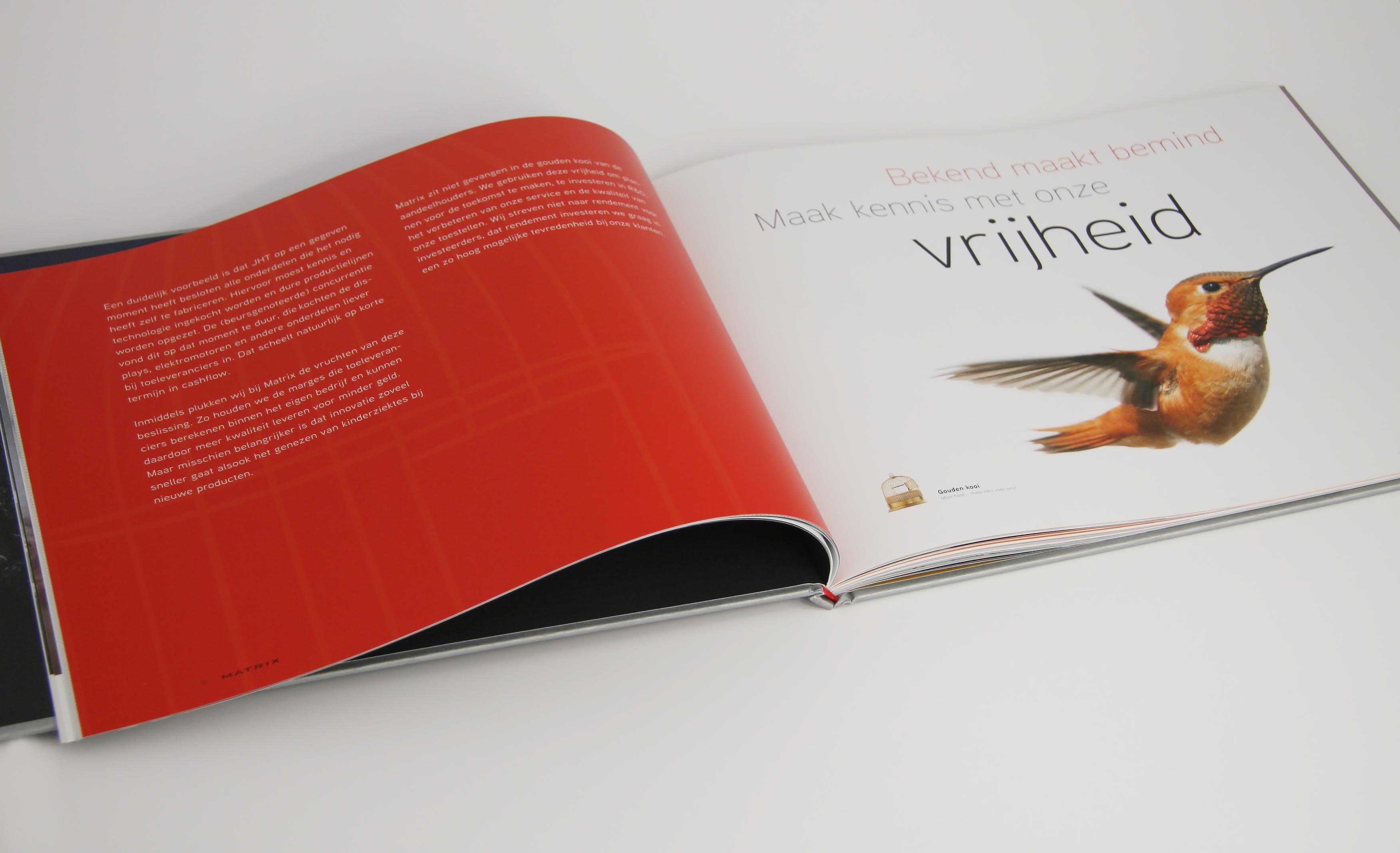 Matrix Corporate brochure advertentie 'Vrijheid'