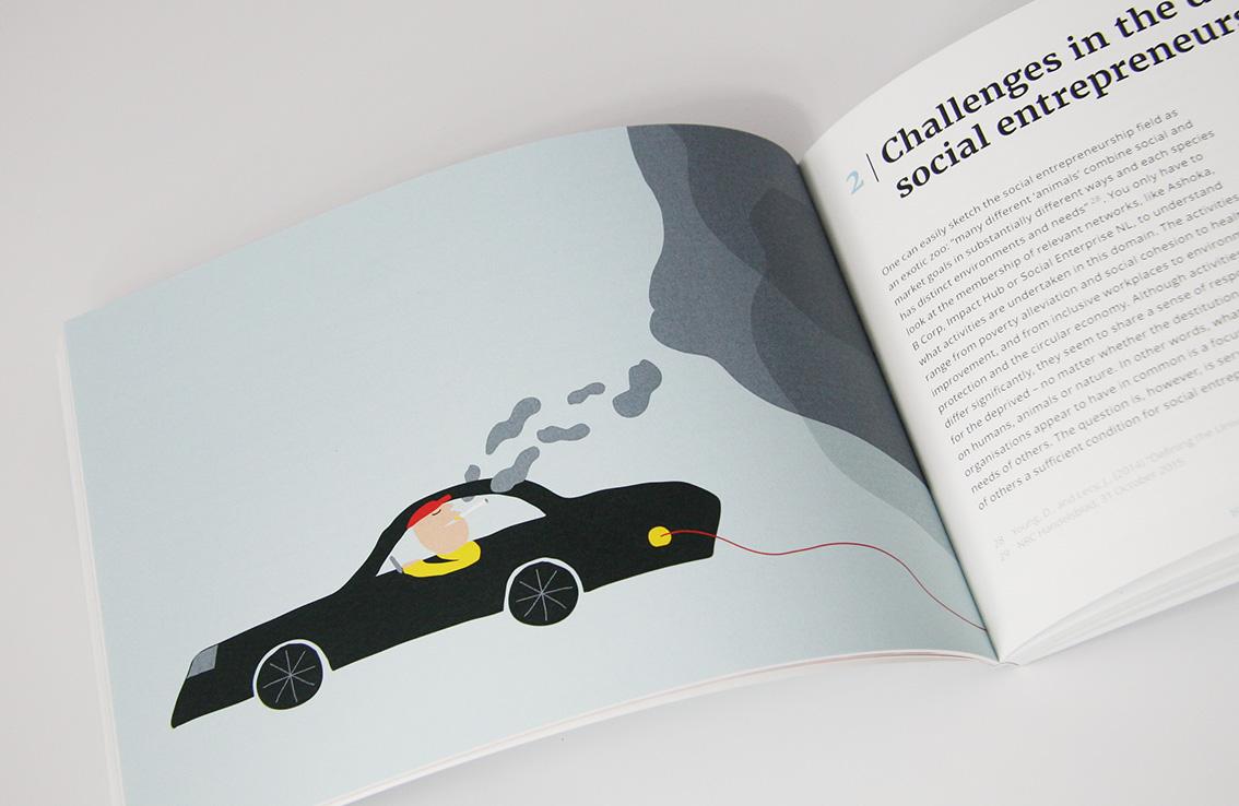 Illustratie: Tesla elektrisch rijden, niet vervuilend?…