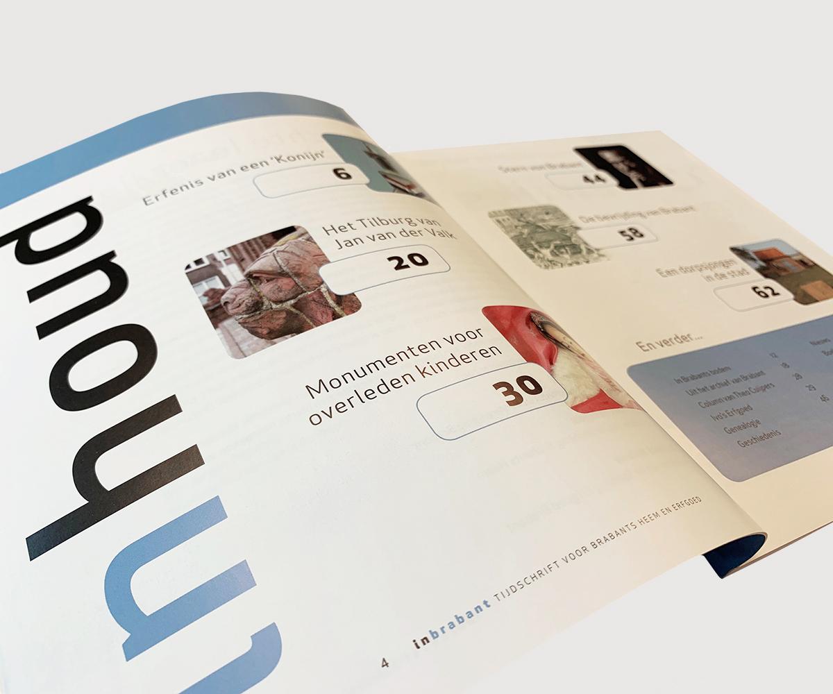 Afbeelding van de inhoudspagina van het blad 'In Brabant'