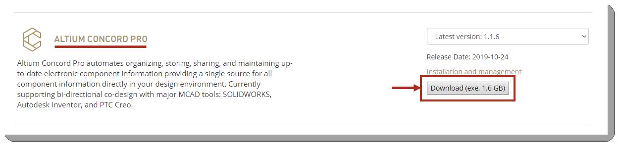 Altium Concord Pro загрузка дистрибутива