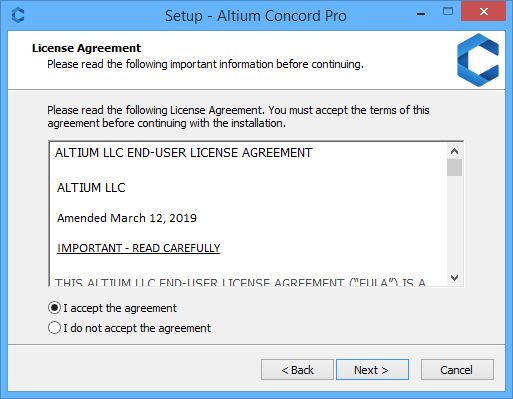 Altium Concord Pro лицензионное соглашение
