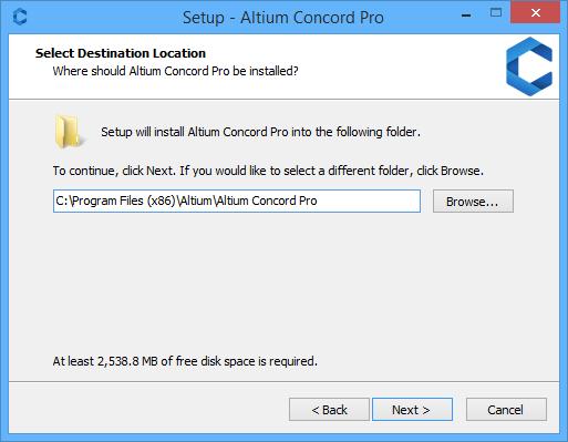 Altium Concord Pro установка дистрибутива