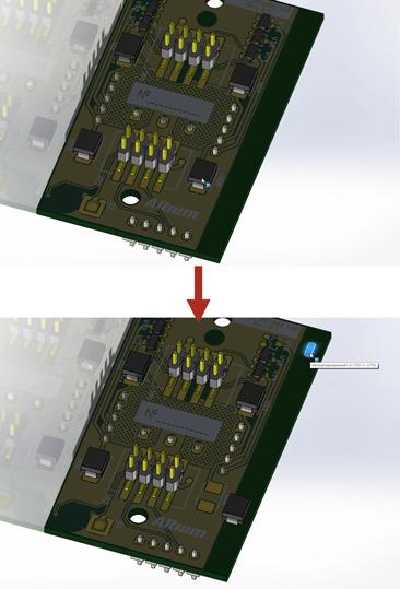 Altium Concord Pro изменение расположения компонентов SolidWorks