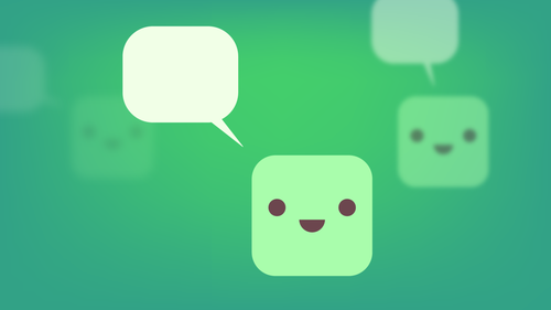 Chatbot speech bubbles