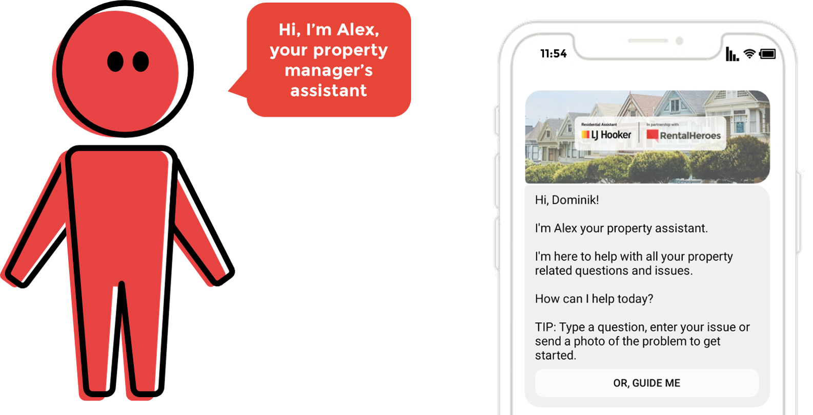 """Rental Heroes """"Alex"""" = the property manager's virtual assistant"""