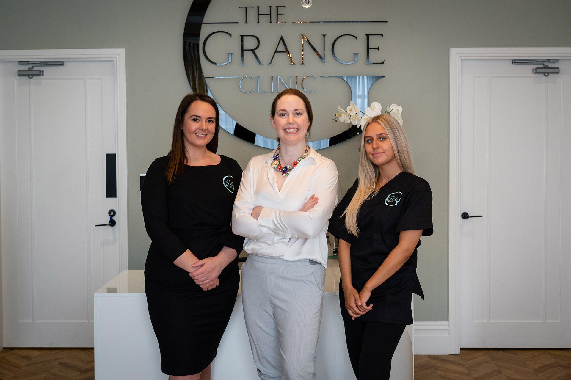 The Grange Clinic Team - Mrs Harper-Machin, Michelle & Elishka