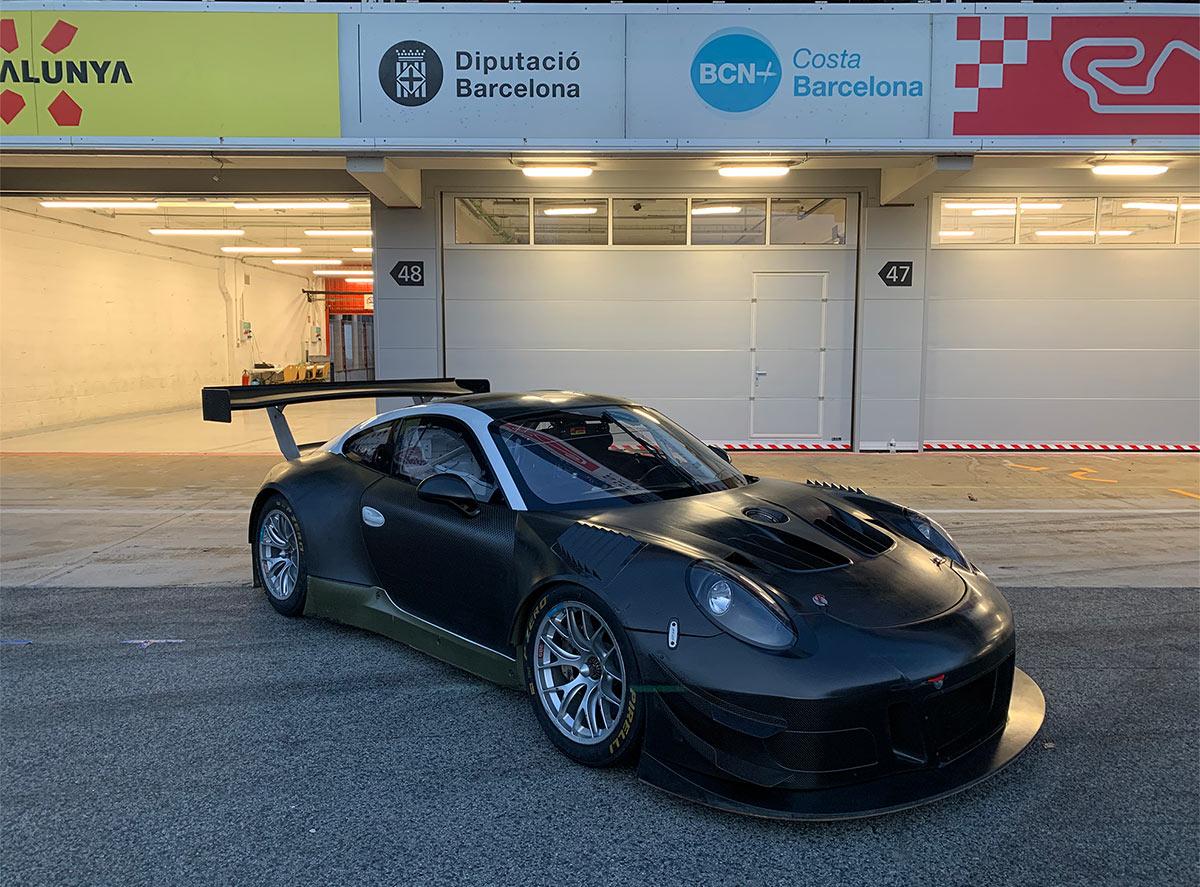nuevo Parsche GT3R en el circuit de catalunya