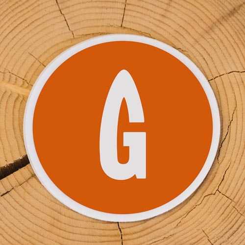 Orange G Sticker