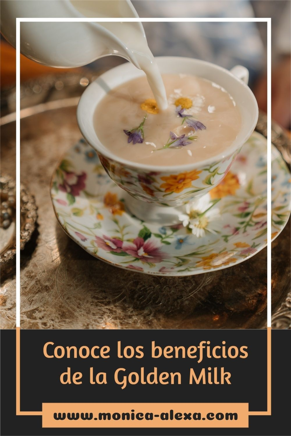 Food and drink Pinterest Pin image created by Mónica using a Tailwind Create design template in 2021.