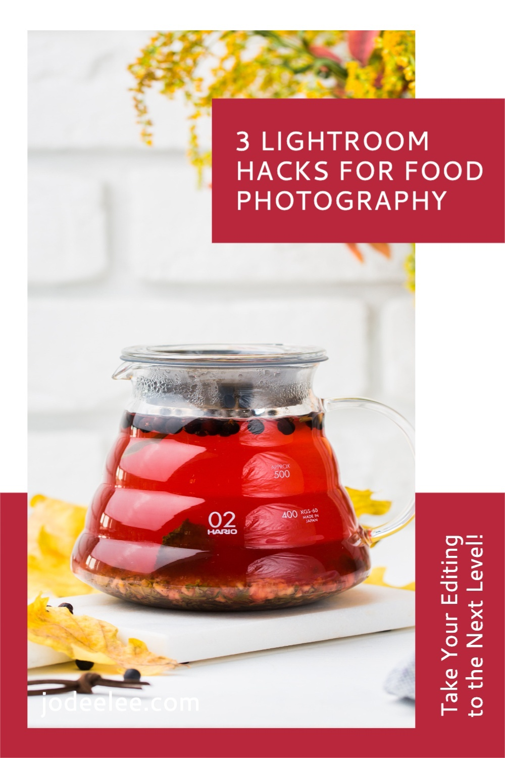 Photography Pinterest Pin image created by Tailwind using a Tailwind Create design template in 2021.