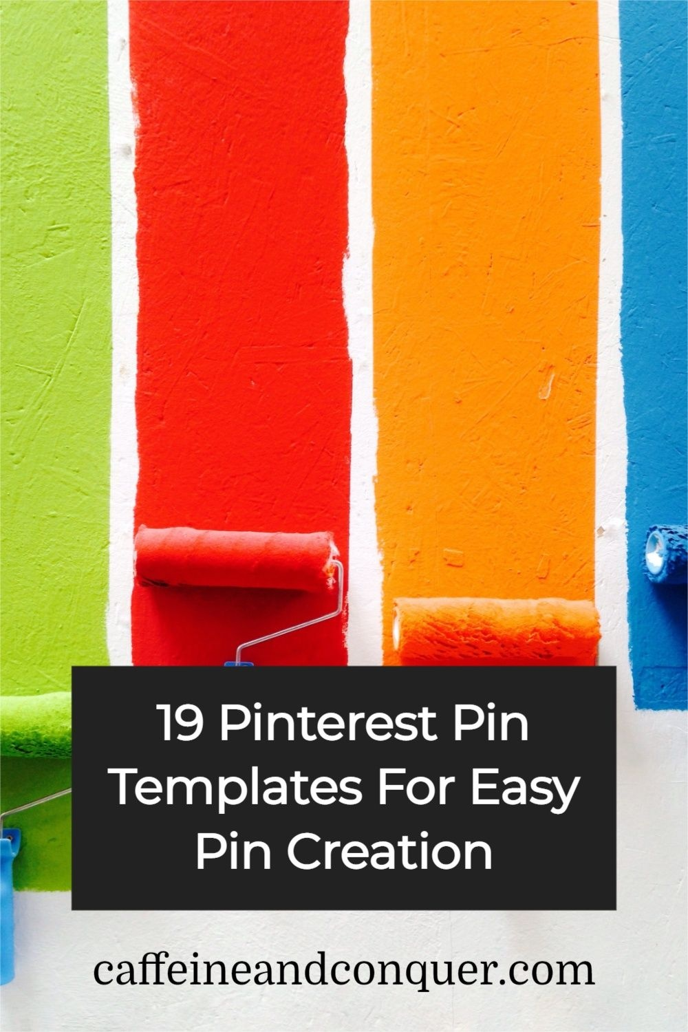 Marketing Pinterest Pin image created by Sarah Fournier (Caffeine and Conquer Pinterest Marketing) using a Tailwind Create design template in 2021.
