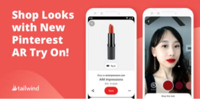 """Blog post title image that reads: """"Shop Looks with New Pinterest AR Try On!"""""""