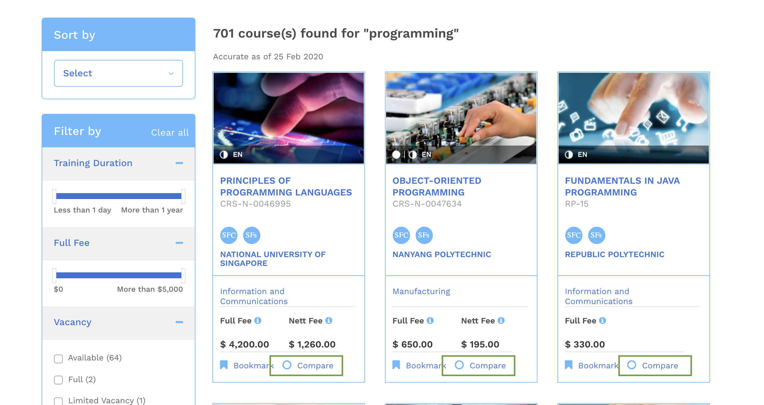 NodeFlair Skillsfuture Credit Programming