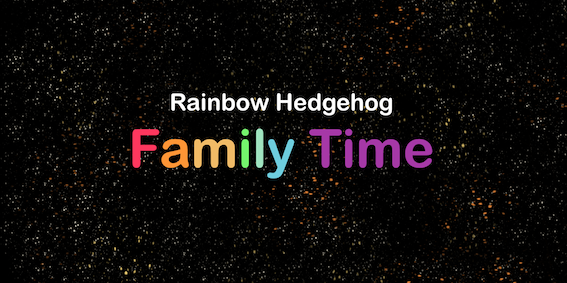 Rainbow Hedgehog Banner