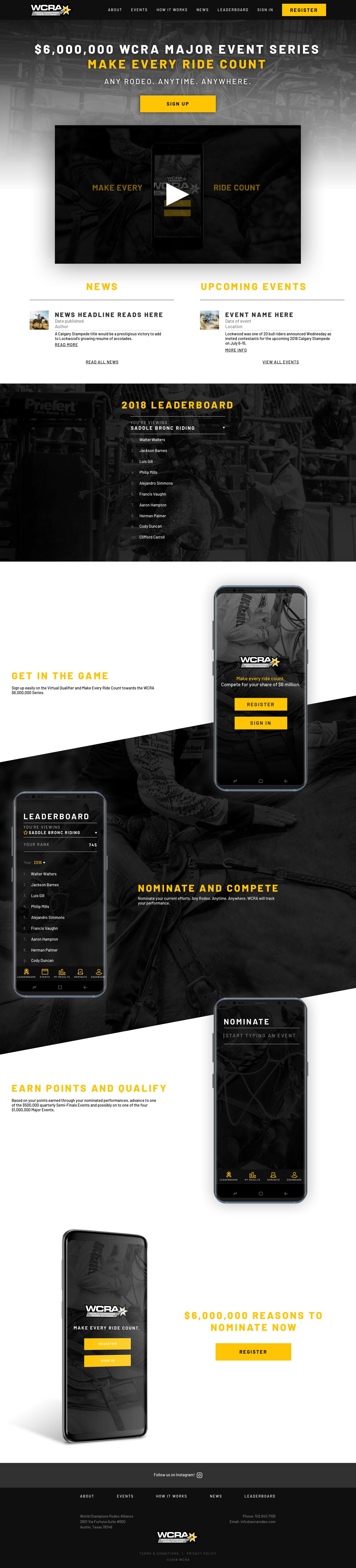 wcra marketing site screen grab