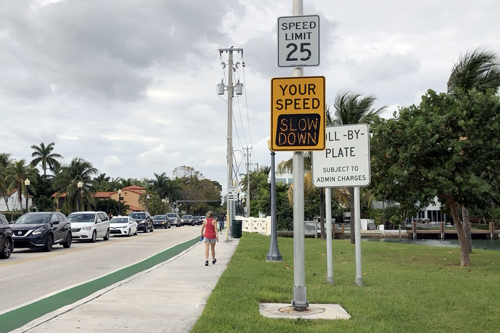 Cars often go 10-20mph over the speed limit, which isn't posted on some segments