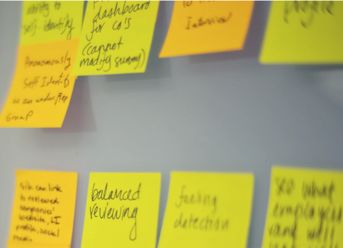 UX with post its