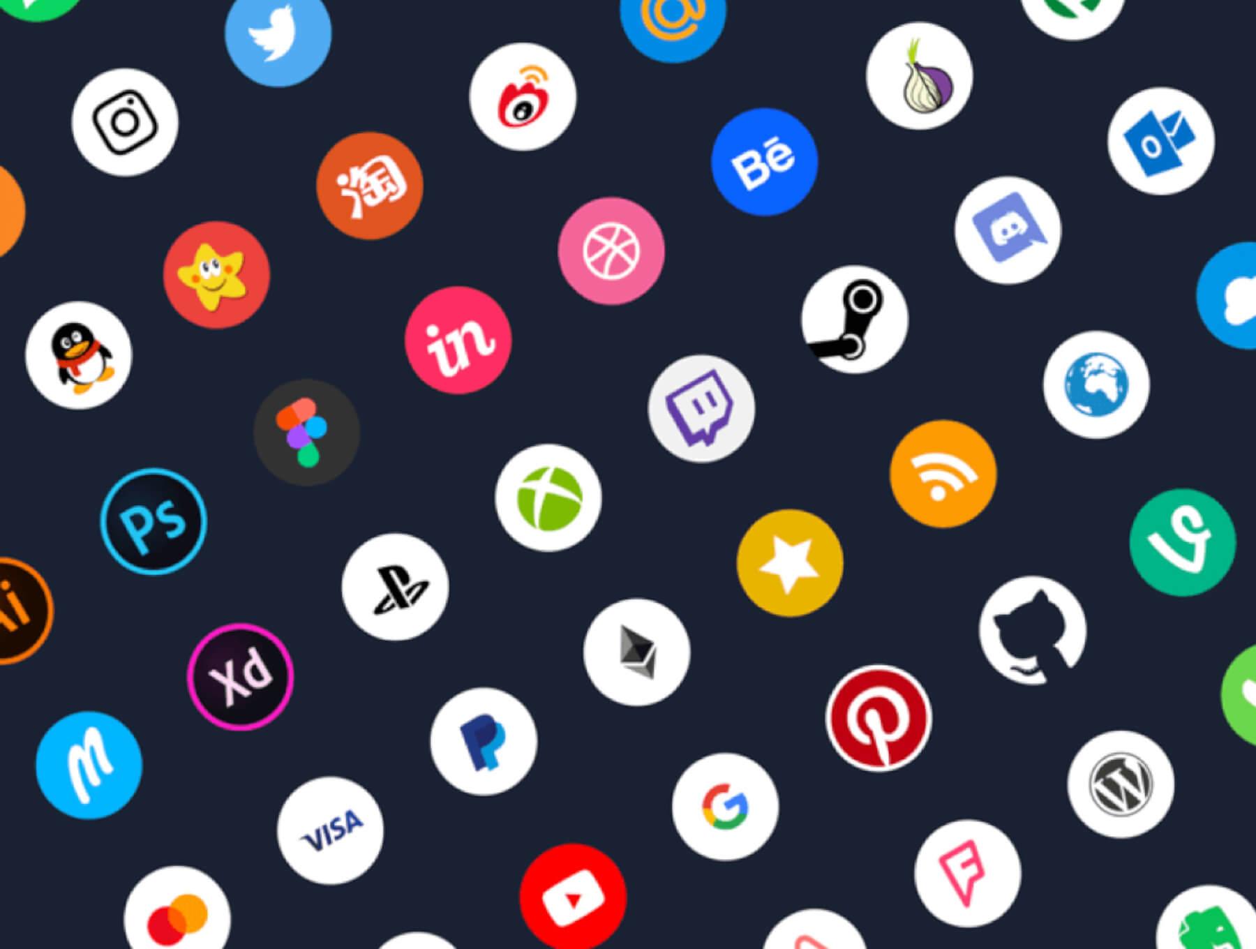 social icons kit