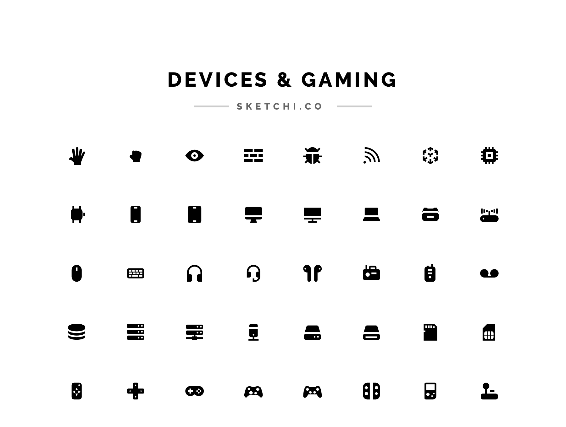 Devices and gaming icons