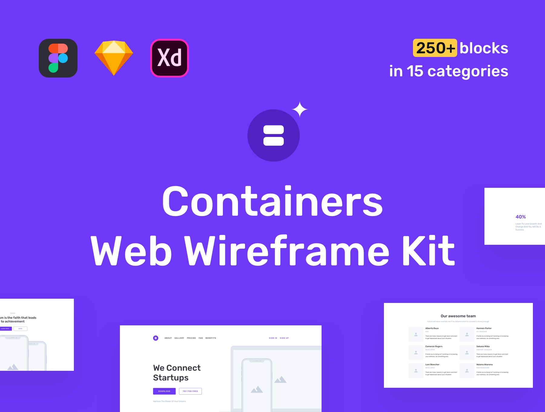 Containers wireframe kit