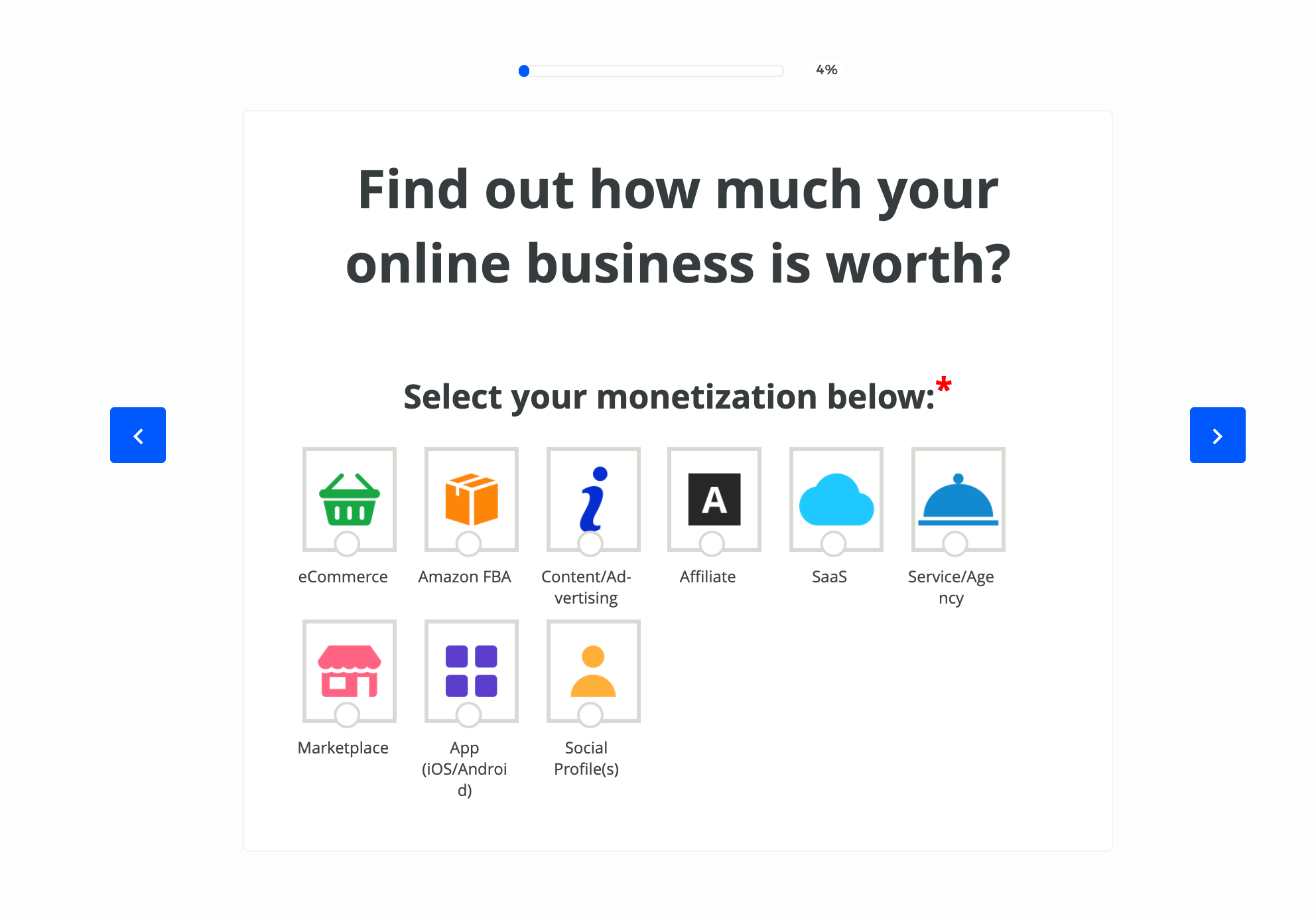 valuation tool to find out the value of your website.