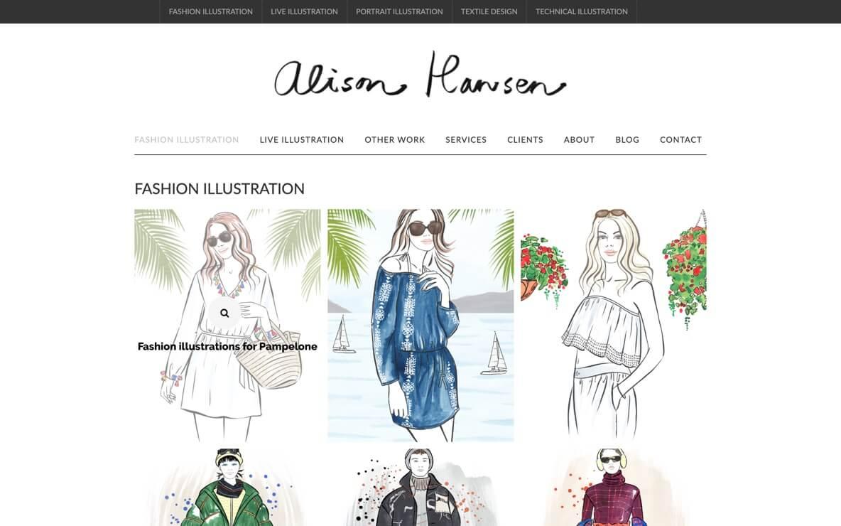 Alison Hansen drawings