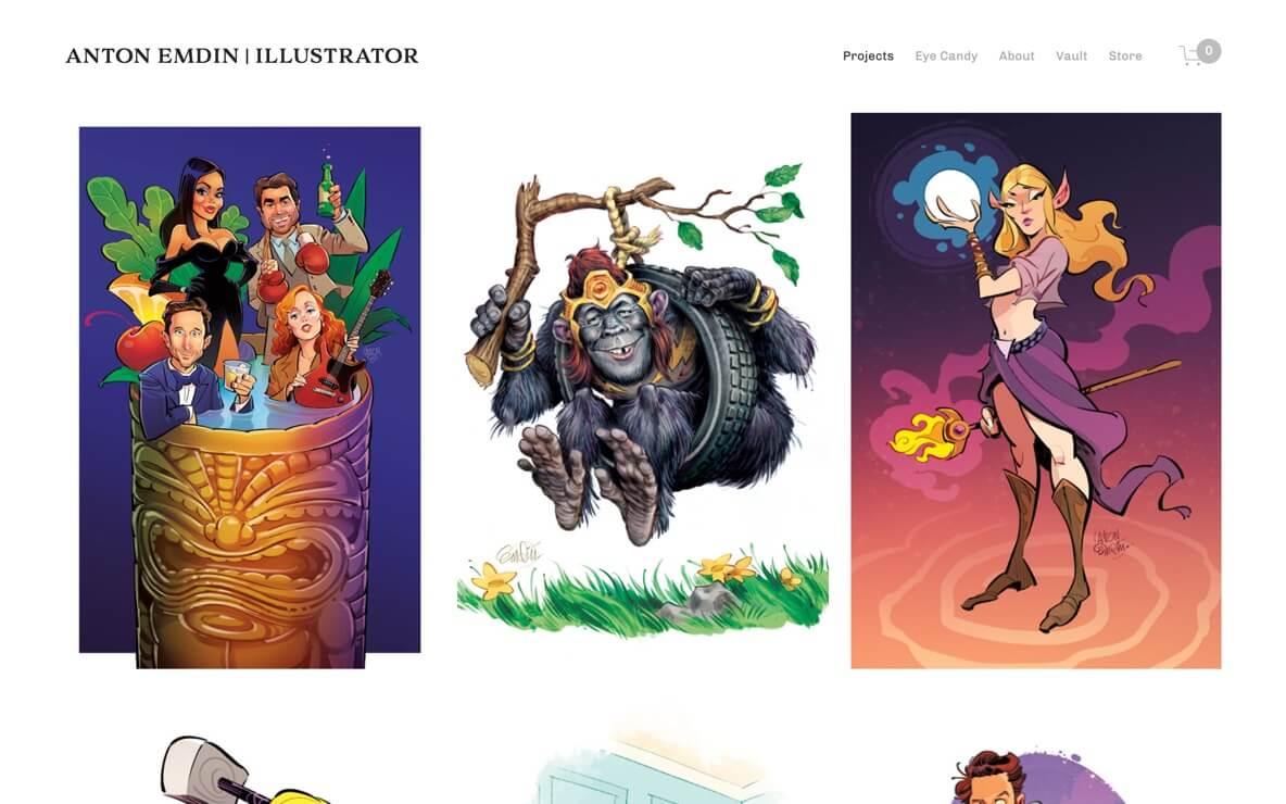 Anton Emdin illustrator and character design