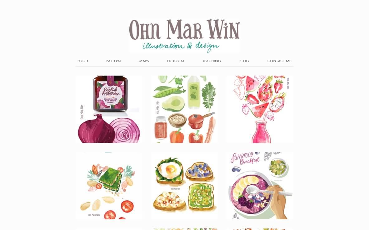 Ohn Mar Win website and blog
