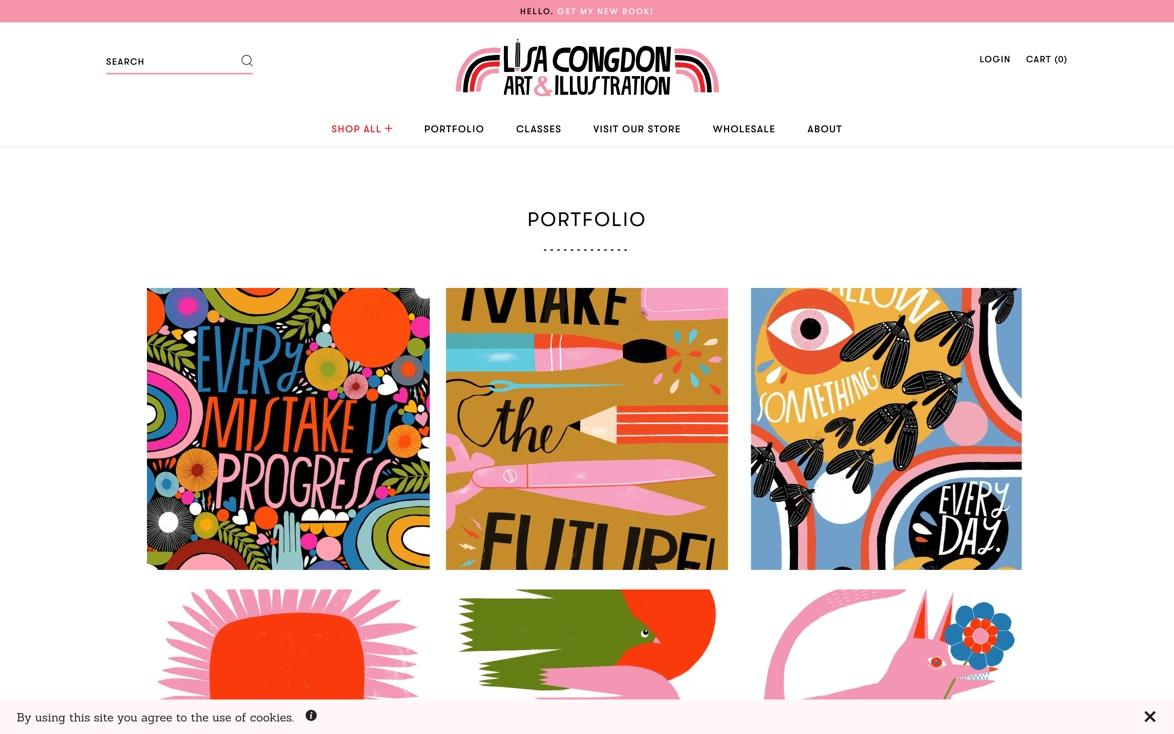 Lisa Congdon Website