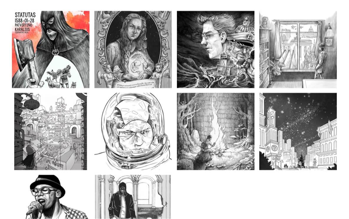 Jon comics and illustrations